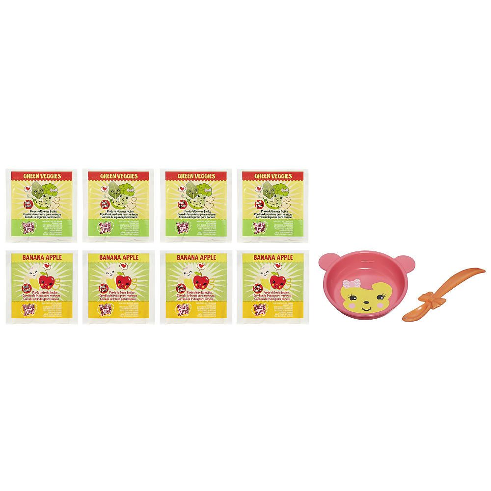 Baby Alive Green Veggies Food Packets