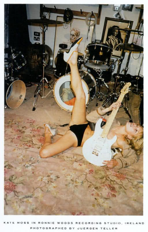 Kate Moss by Juergen Teller *this is how I feel somedays...minus the cocaine* hahaha