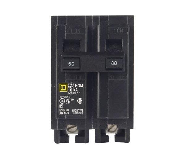 Square D Hom260cp Homeline Double Pole Circuit Breaker 60 Amp 2 Circuit Electrical Supplies Locker Storage