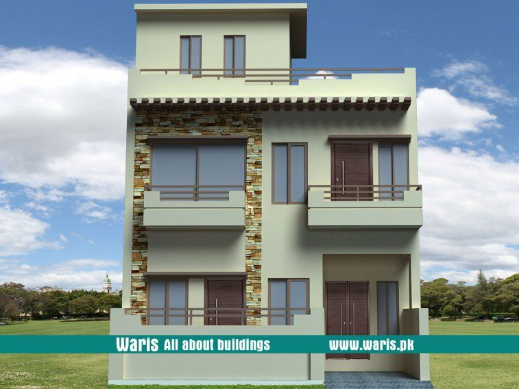 Waris House 4 Marla 3d View Elevation 25x40 In Islamabad Pakistan House Design Photos House Plans House