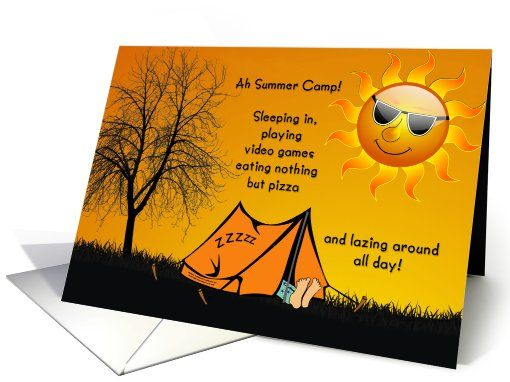 Thinking Of You Away At Summer Camp For Kids Card  By
