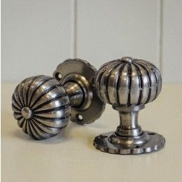 Hand Forged Flower Door Knobs (Pair) - Pewter | House accessories ...