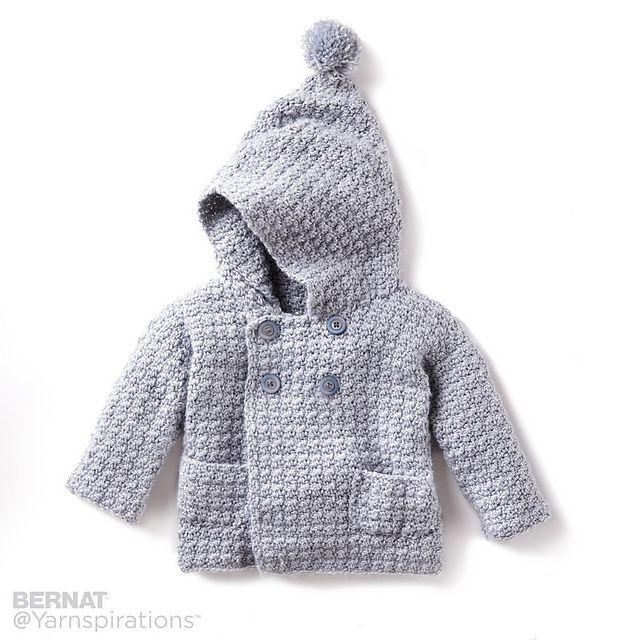 Ravelry: Cozy Hoodie pattern by Bernat Design Studio--baby sweater ...