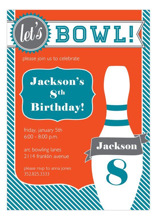 Go Bowling Fabulous Bowling Party Boy Birthday Parties Bowling