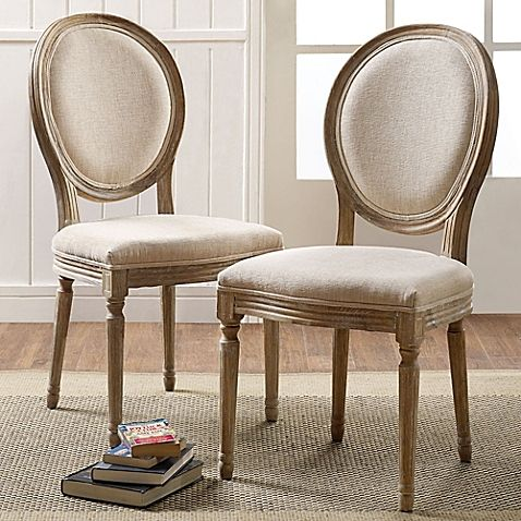 Shiraz Linen Oval Back Dining Chairs Set Of 2 French Country Dining Chairs Dining Chairs Round Back Dining Chairs