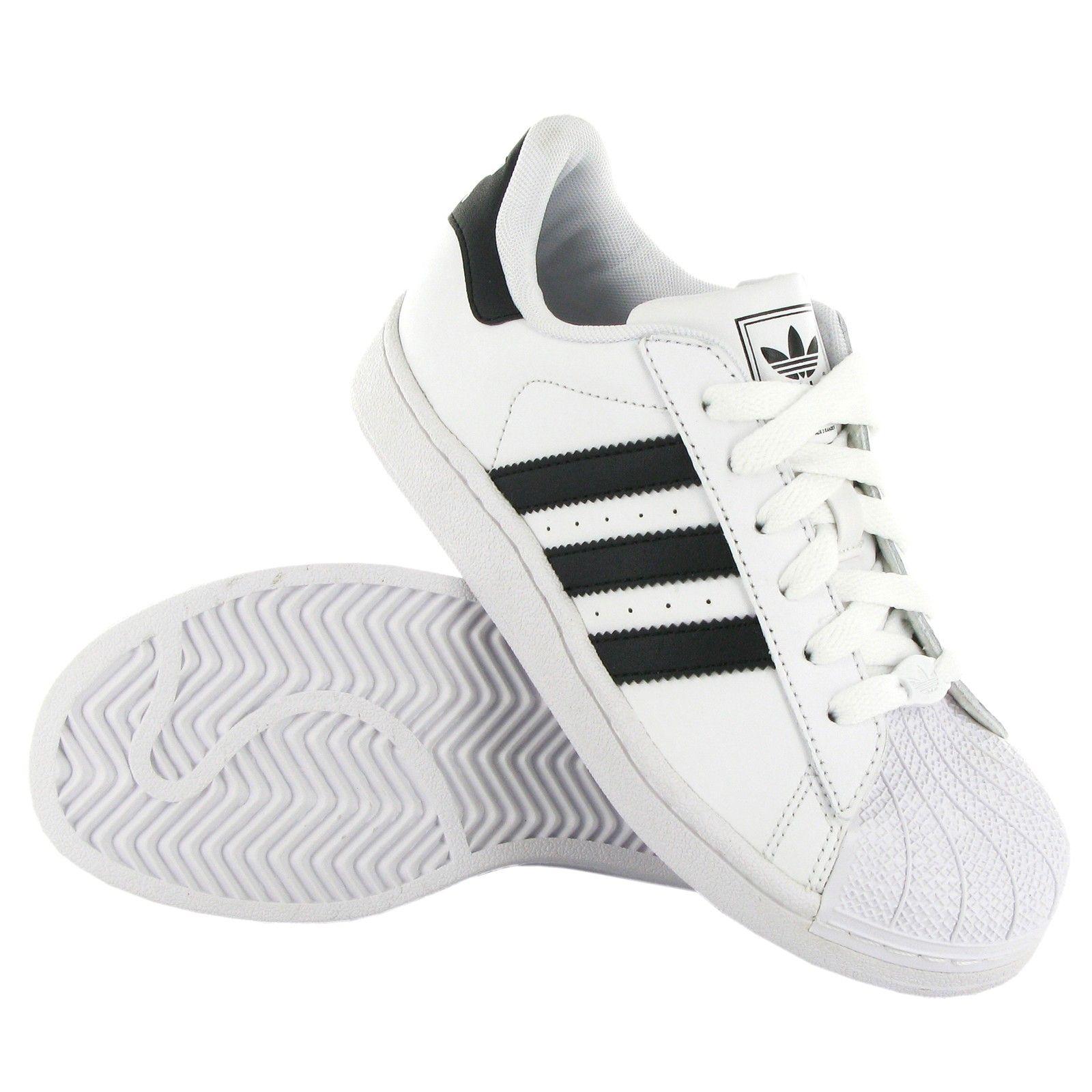 adidas superstar 2 white black