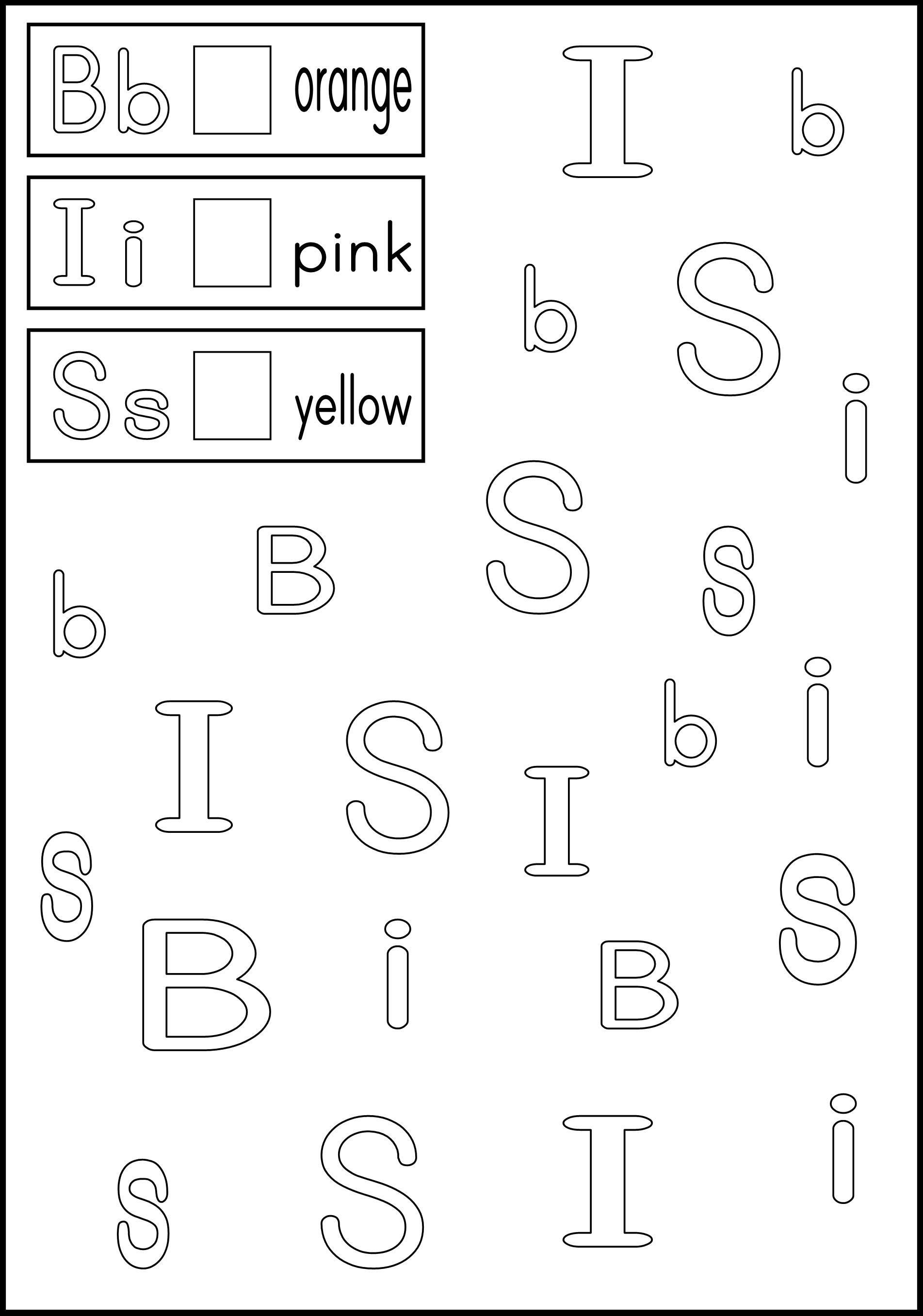 Alphabet Recognition Worksheets For Kindergarten Em