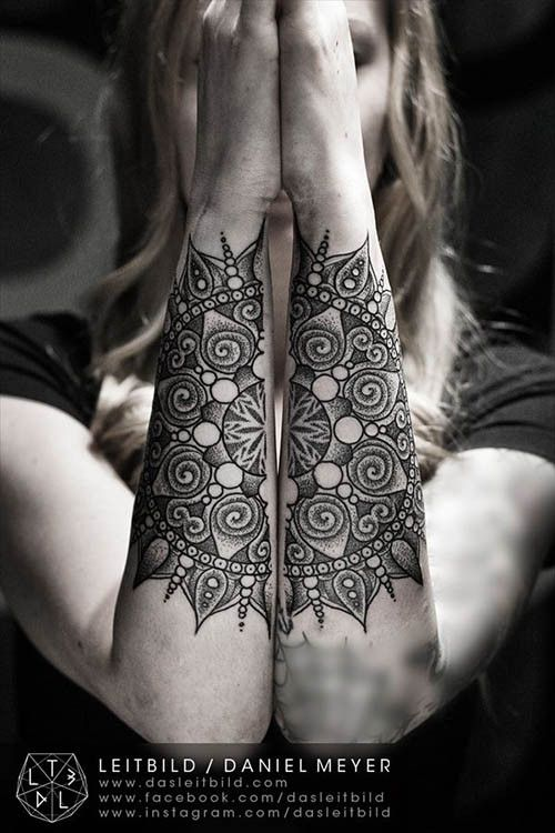 Two Arms One Tattoo Inked Magazine Mandala Tattoo Tattoos Mandala Tattoo Design