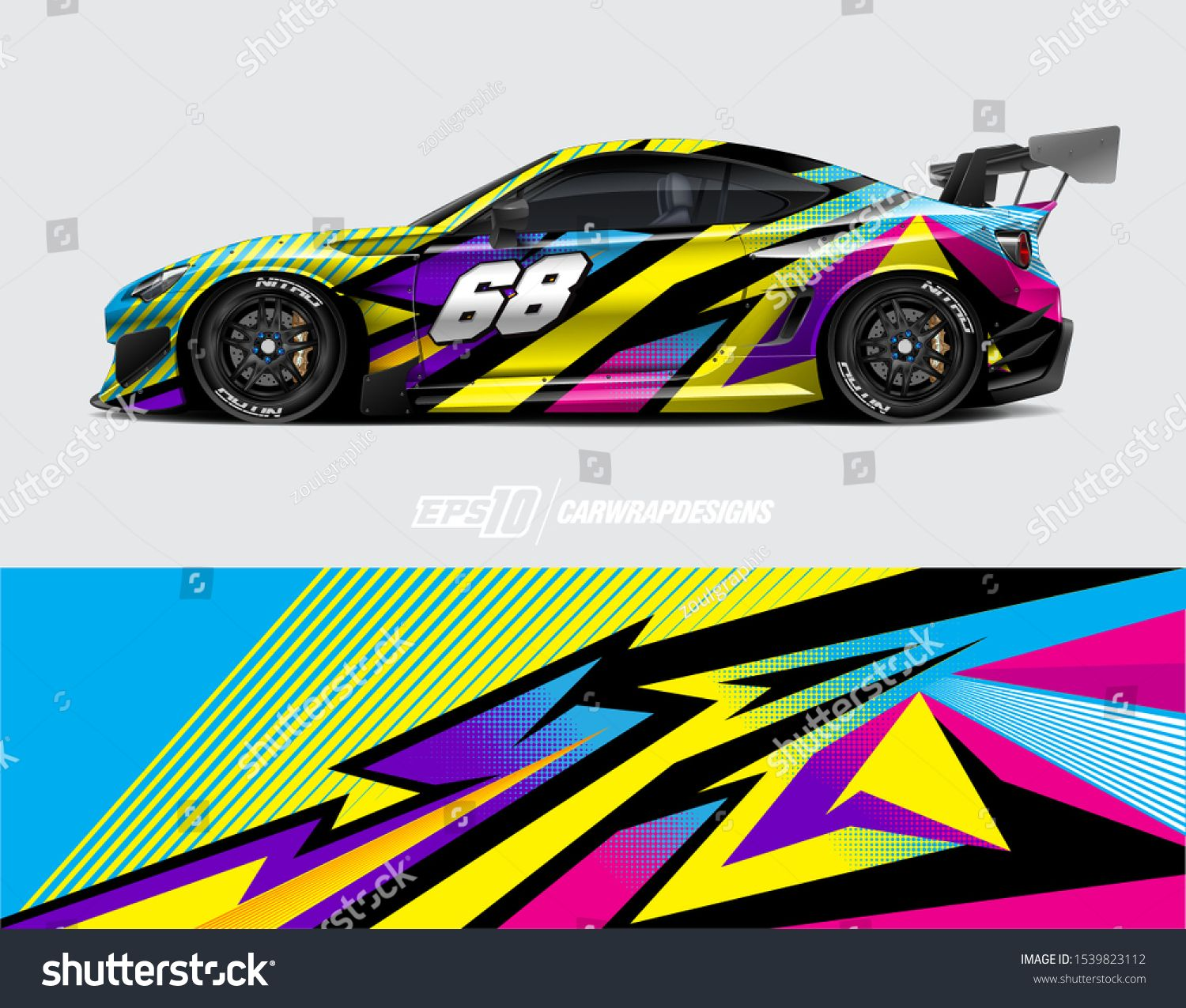Car Wrap Decal Designs Abstract Racing And Sport Background For Racing Livery Or Daily Use Car Vinyl Sticker Vector E Car Wrap Decal Design Racing Car Design