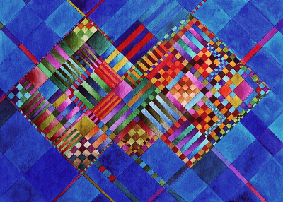 Colourful Research -- a Creative Diary: Another painting that would great as a quilt!
