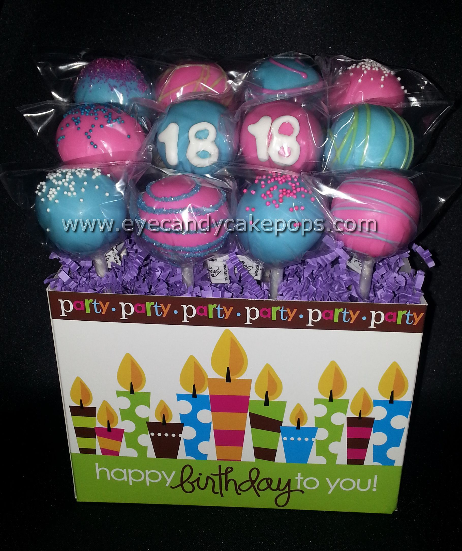 18th Birthday Cake Pops