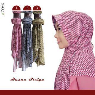 Zoya Bergo Husna Stripes Rp 79000 Selendang Kerudung Hijab