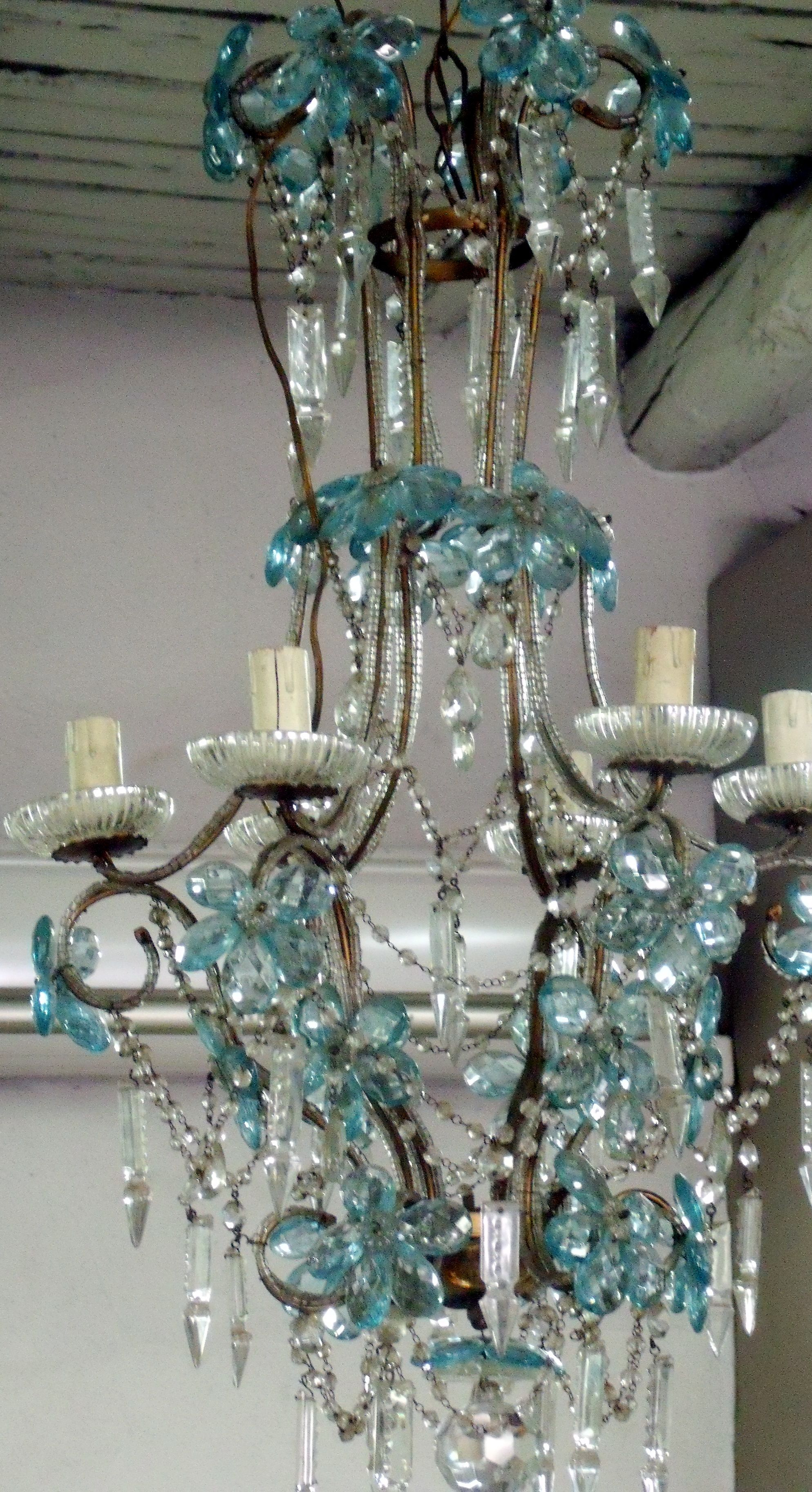 blue chandelier turquoise - Turquoise Chandelier Light