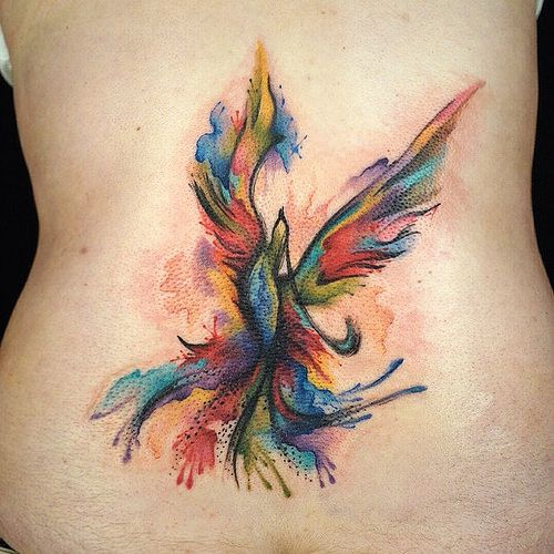 Tattoo Everyday Today Watercolor Abstract Phoenix Bi Flickr Phoenix Tattoo Phoenix Tattoo Design Colorful Bird Tattoos