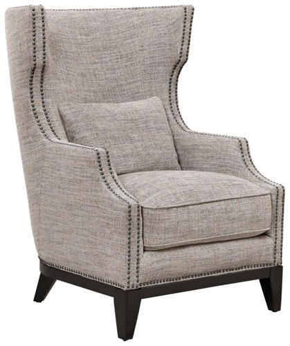 Nigel Barker Collection: Molton Accent Chair Is An Updated Version Of The  Traditional Wing Chair