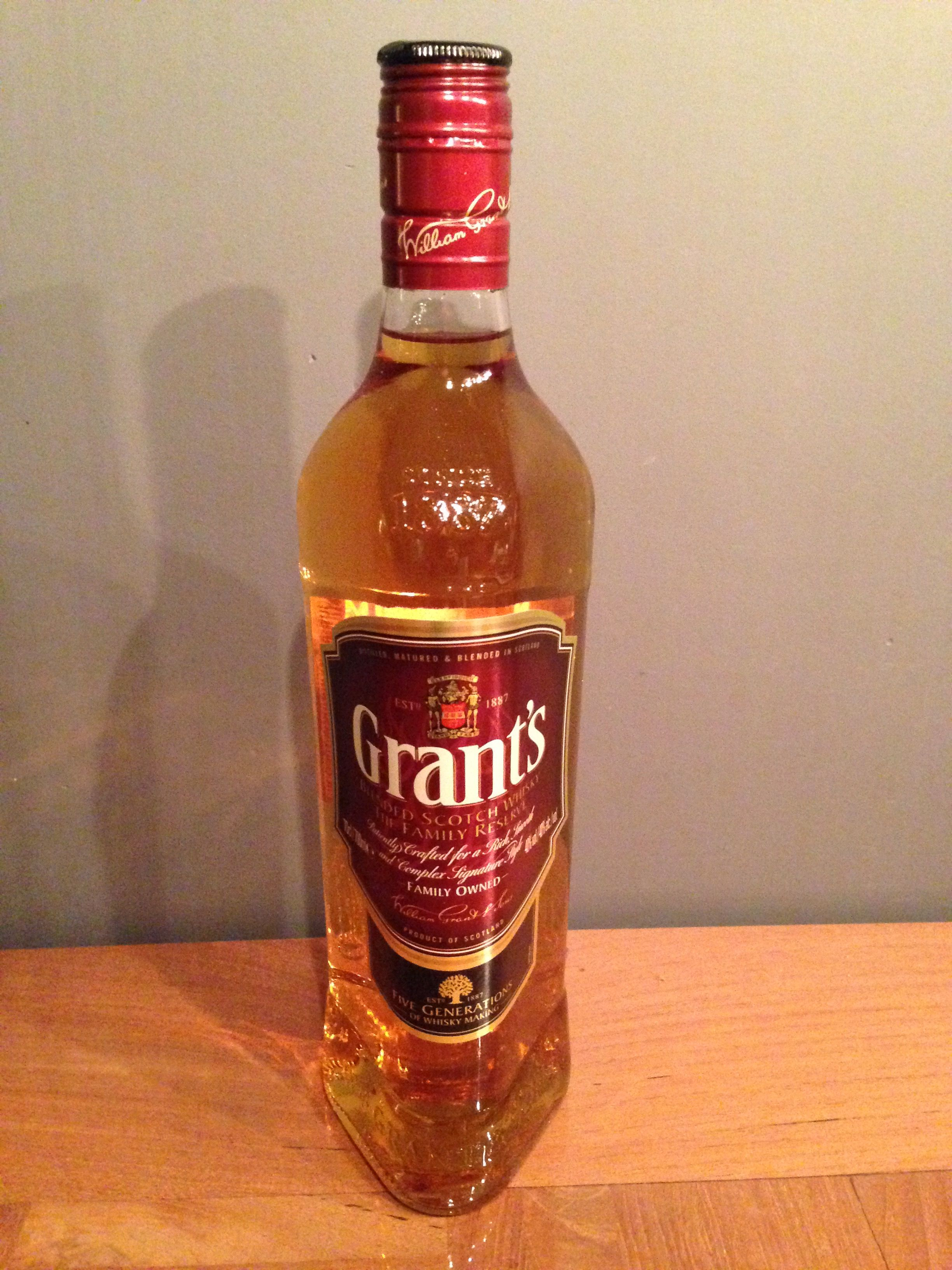 Grant El Cheapo Whisky For Coffee Sauce Bottle Hot Sauce Bottles Whisky