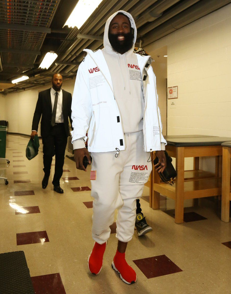 8f6f14d55b4 James Harden in the Balenciaga Speed Trainer