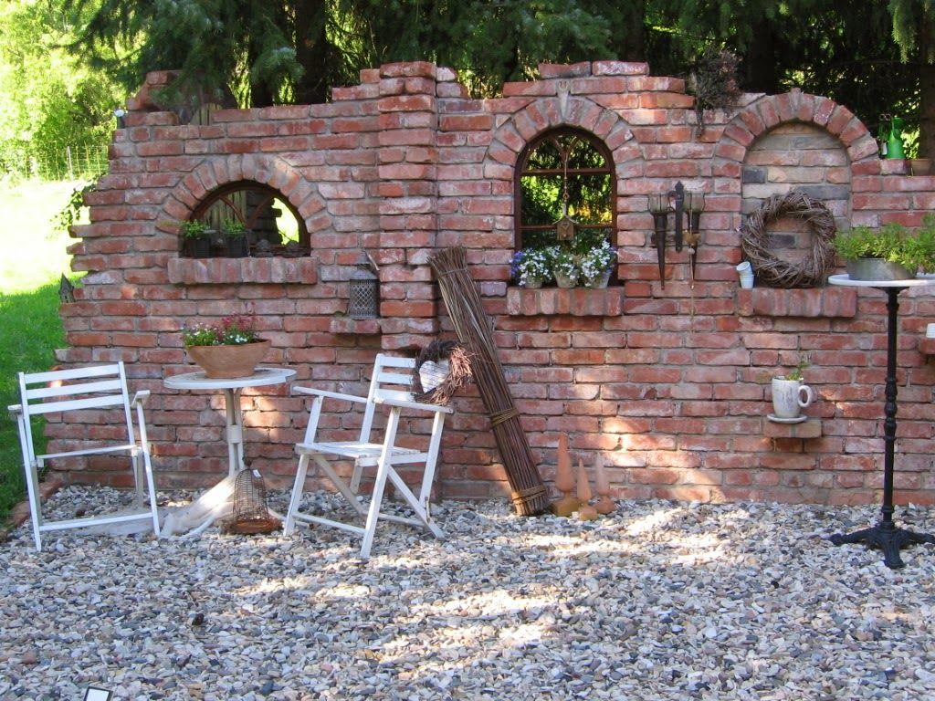 Terrasse Plus Ruinenmauern Mit Bildern Steinmauer Garten
