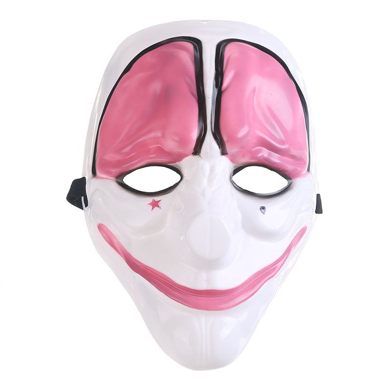 Halloween cosplay masquerade mask adults with Payday2 jokers dallas - halloween party decorations adults