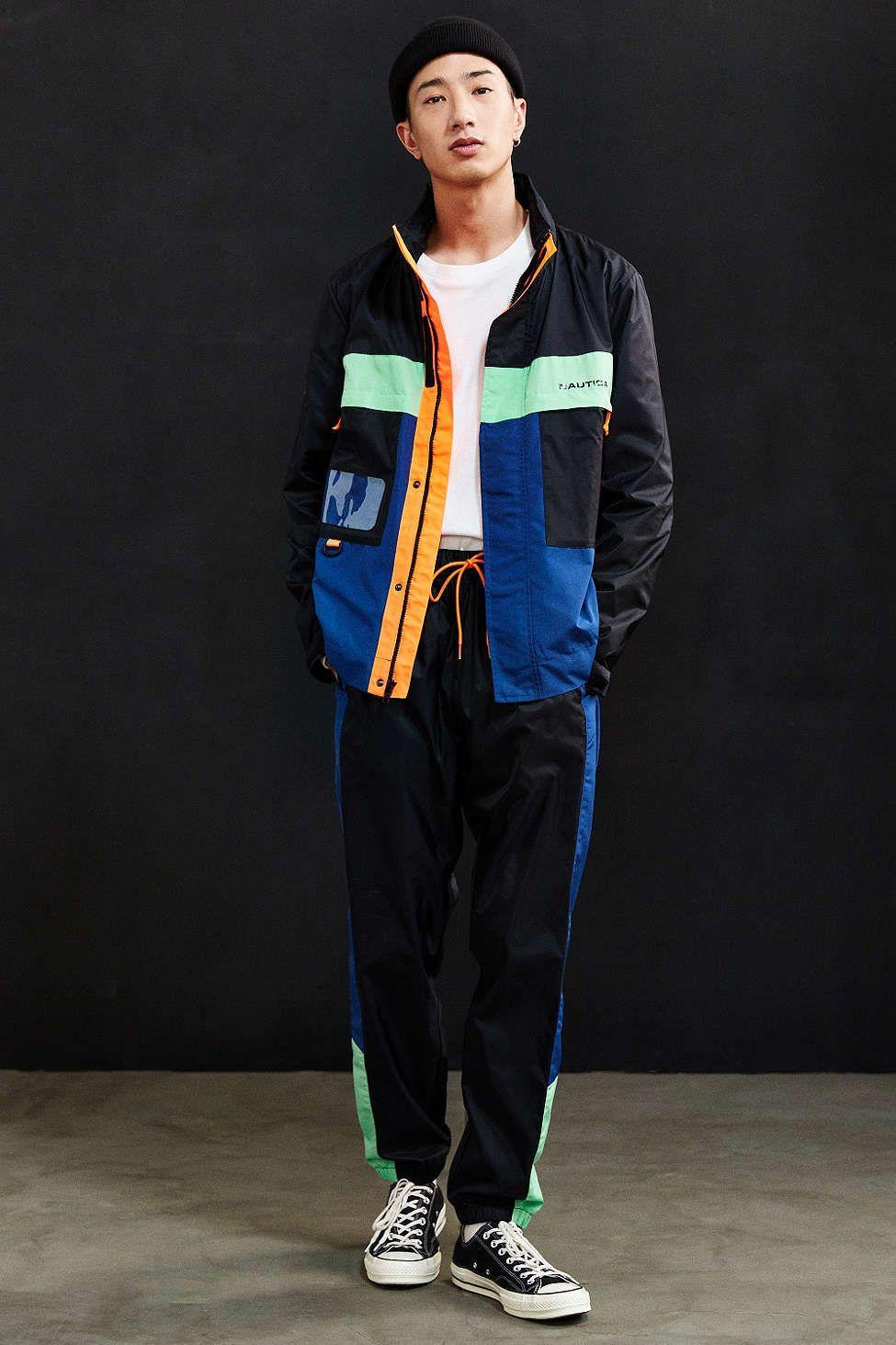 23e77ff4d1e Nautica + UO Track Jacket | UO Exclusives | Mens windbreaker ...