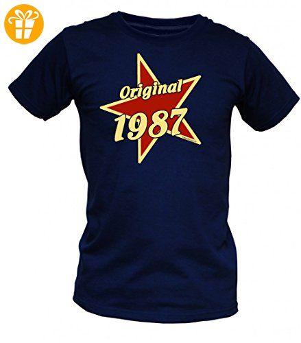 Birthday Shirt - Original 1987 - Lustiges T-Shirt als Geschenk zum  Geburtstag - Blau