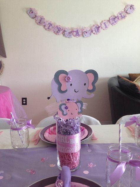 Elephant Centerpiece Purple Elephant Centerpiece Pick Elephant
