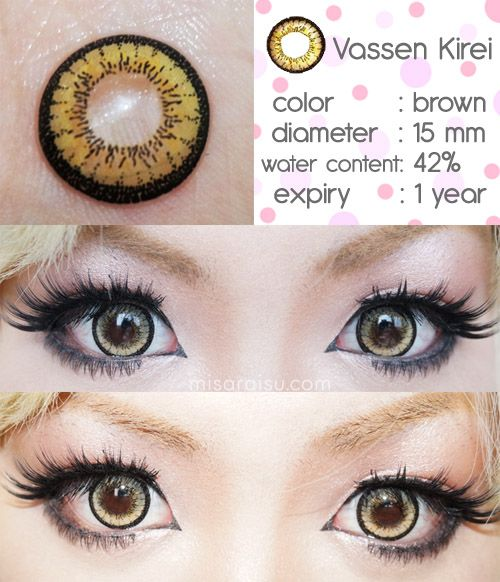 Misaraisu Vassen Kirei Brown Circle Lens Review Circle Lenses Contact Lenses Colored White Contact Lenses