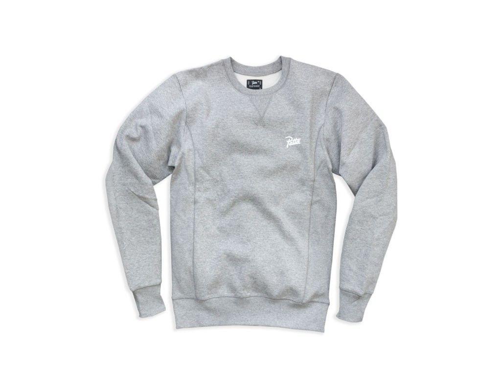 Patta Basic Crewneck Sweater (Melange Grey) | SS17 | Pinterest ...
