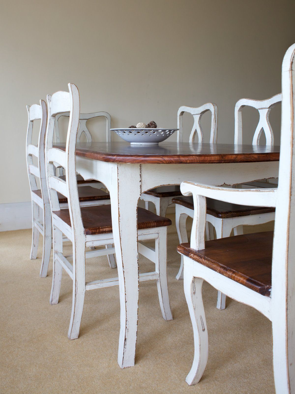 Provence Shabby Chic Rounded Edge Dining Table