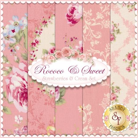 """Rococo & Sweet is a collection by Lecien Fabrics. 100% Cotton. This set contains 5 fat quarters, each measuring approximately 18"""" x 21""""."""
