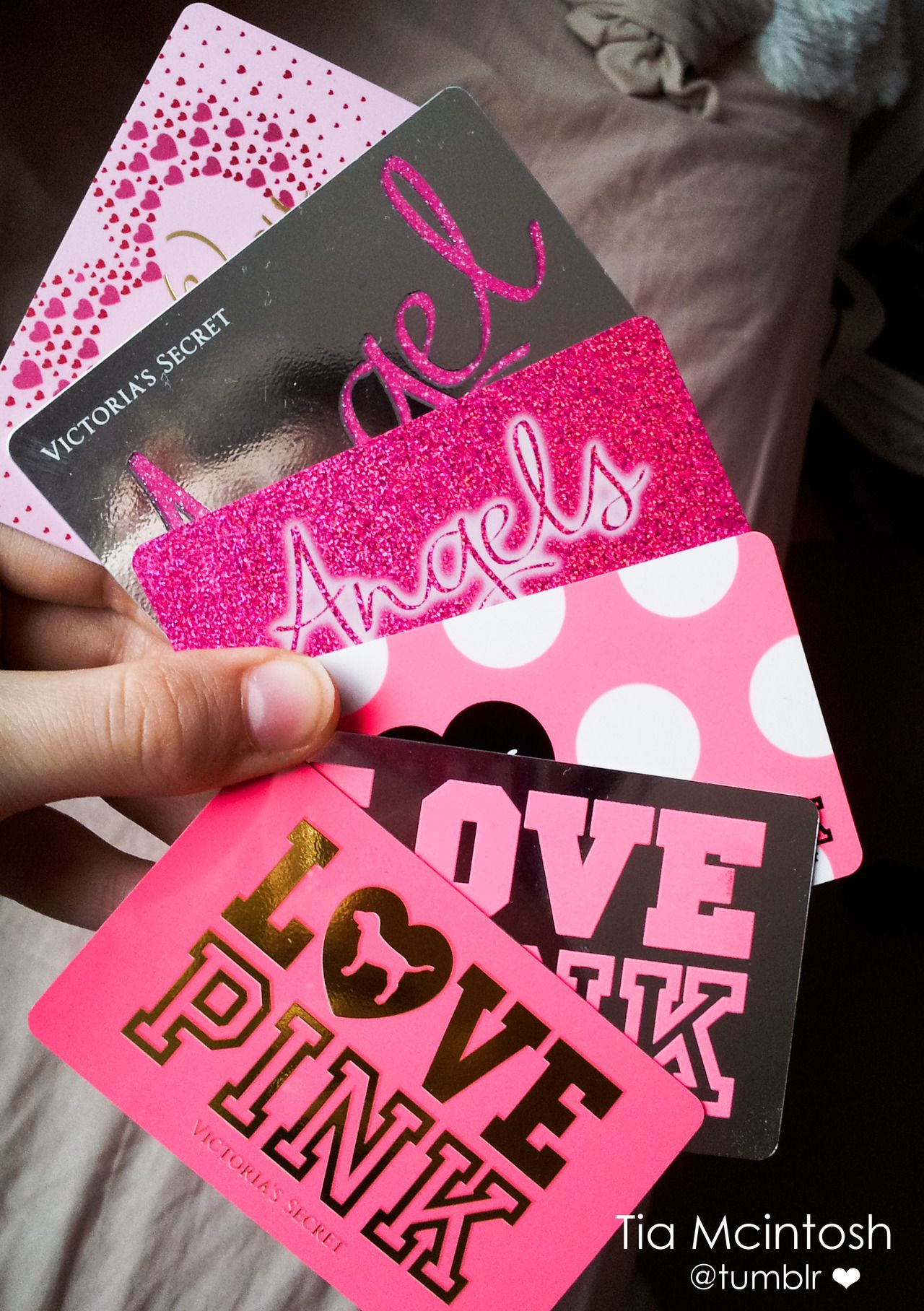 Seriously if anyone wants to give me stuff from victorias secret just pink gift card not like victoria secret gift card negle