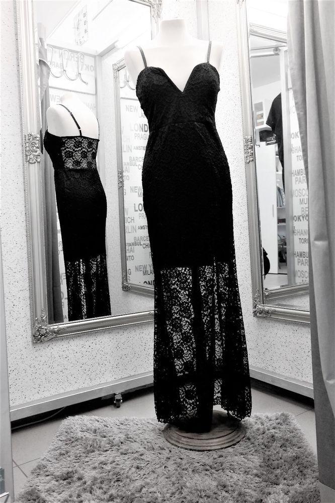 Abendkleid Cocktail Kleid Meerjungfrau schwarze Spitze ...