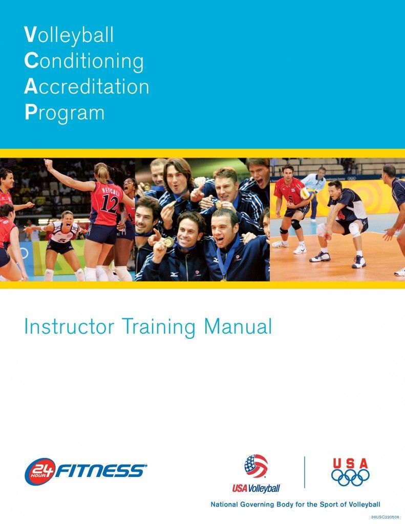 Volleyball Conditioning Accreditation Program Vcap Instructor Training Manual Vb133 Volleyball Conditioning Volleyball Conditioner