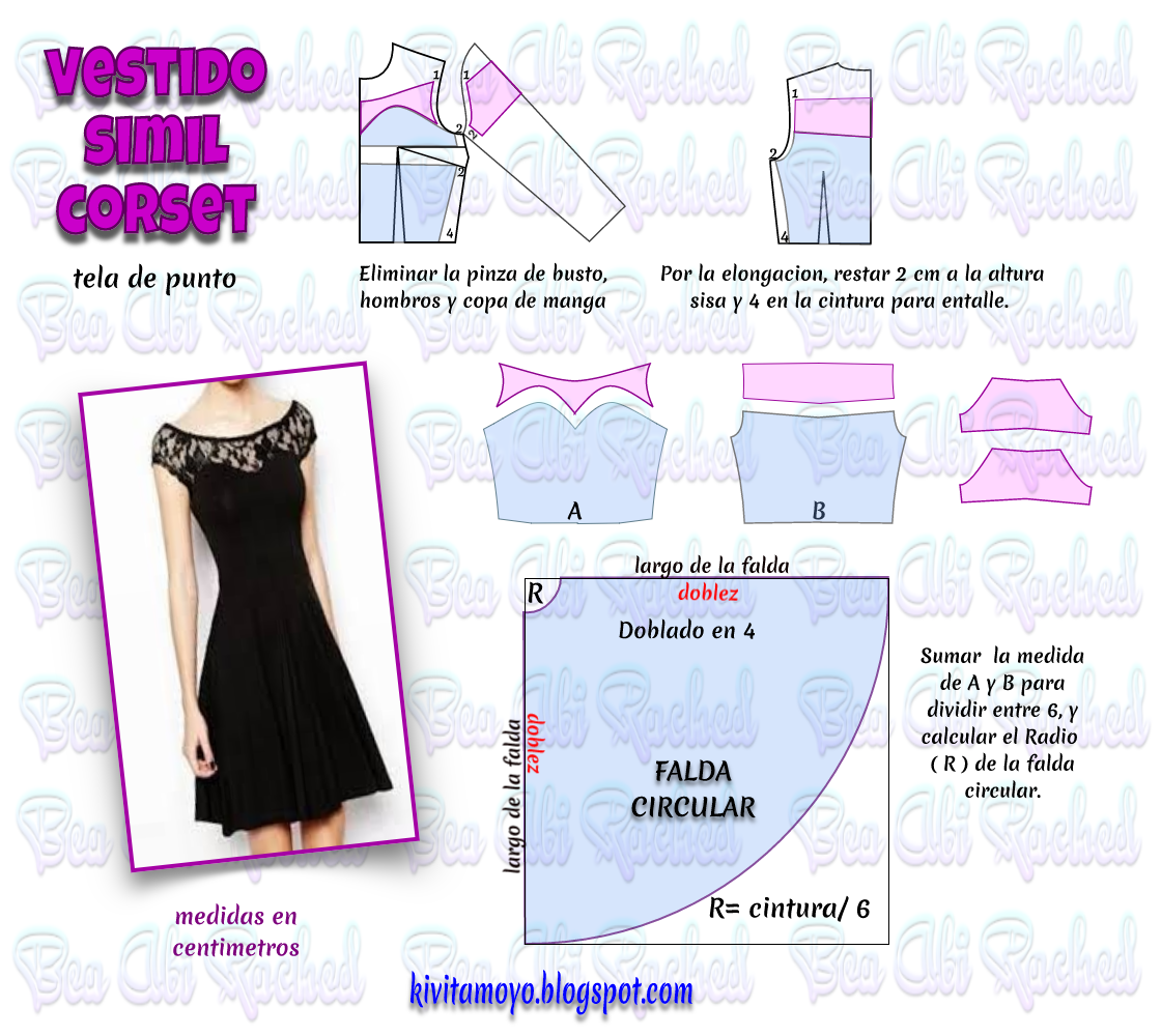 KiVita MoYo : VESTIDO SIMIL CORSET | Sewing patterns | Pinterest