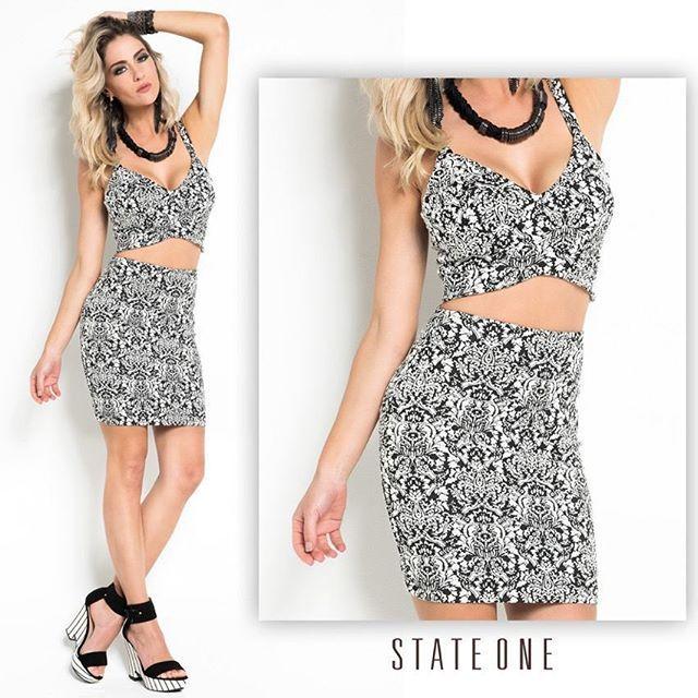 Sexta-feira é dia de arrasar com aquele look incrível State One. #stateone #look #black #white