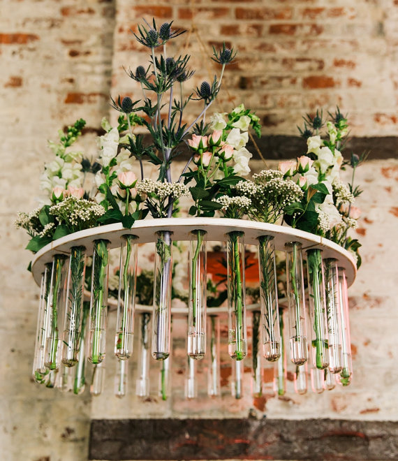Wooden test tube flower chandelier weddings garden parties rustic wooden test tube flower chandelier weddings garden parties rustic weddings as seen at the not wedding nyc and on ruffled blog aloadofball Image collections