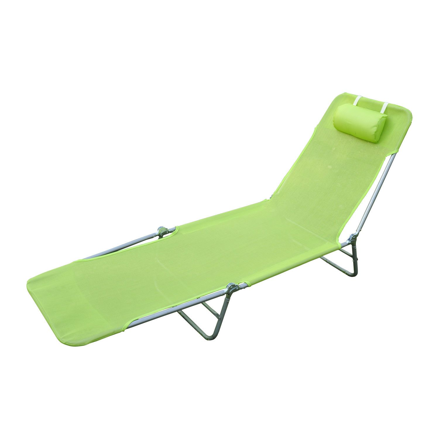 Foldable chaise lounge adjustable patio cot reclining beach chair w