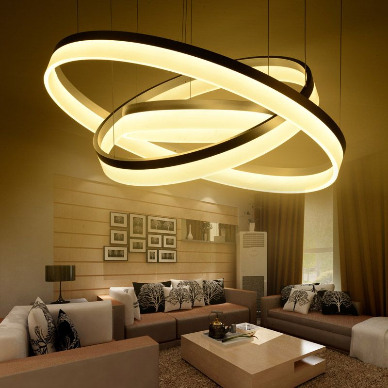 Pas cher moderne led salon salle manger lampes for Living room light fixtures