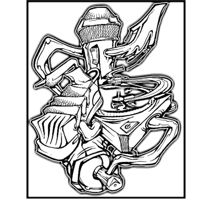 4 Elements | Hip Hop Coloring Book compiled by Jamee Schleifer ...