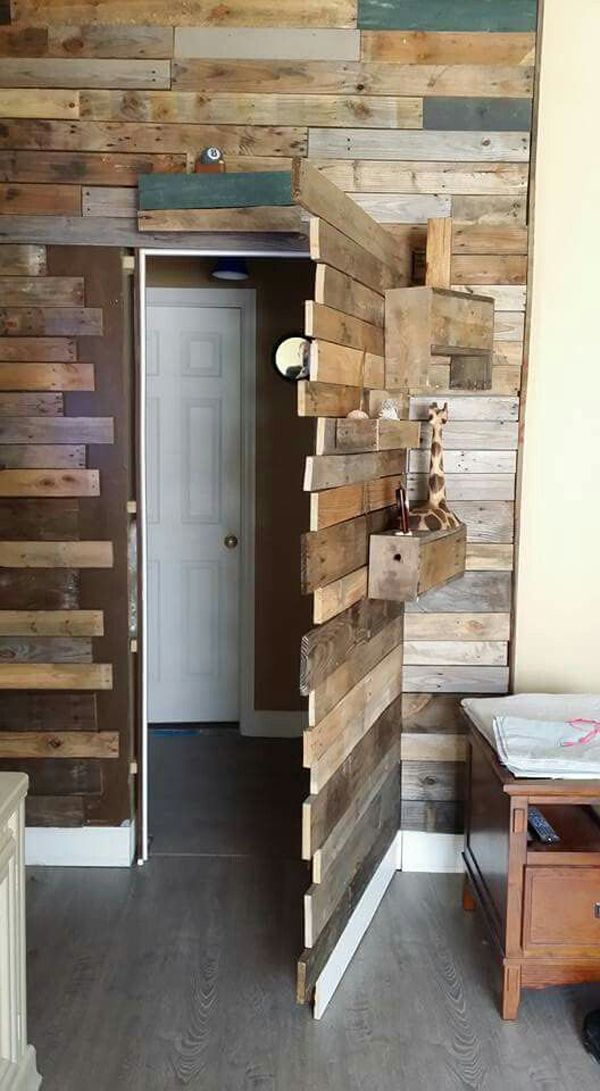 37 Fun And Unique Secret Room Ideas For Your Hideaway -   12 room decor Rustic pallet walls ideas