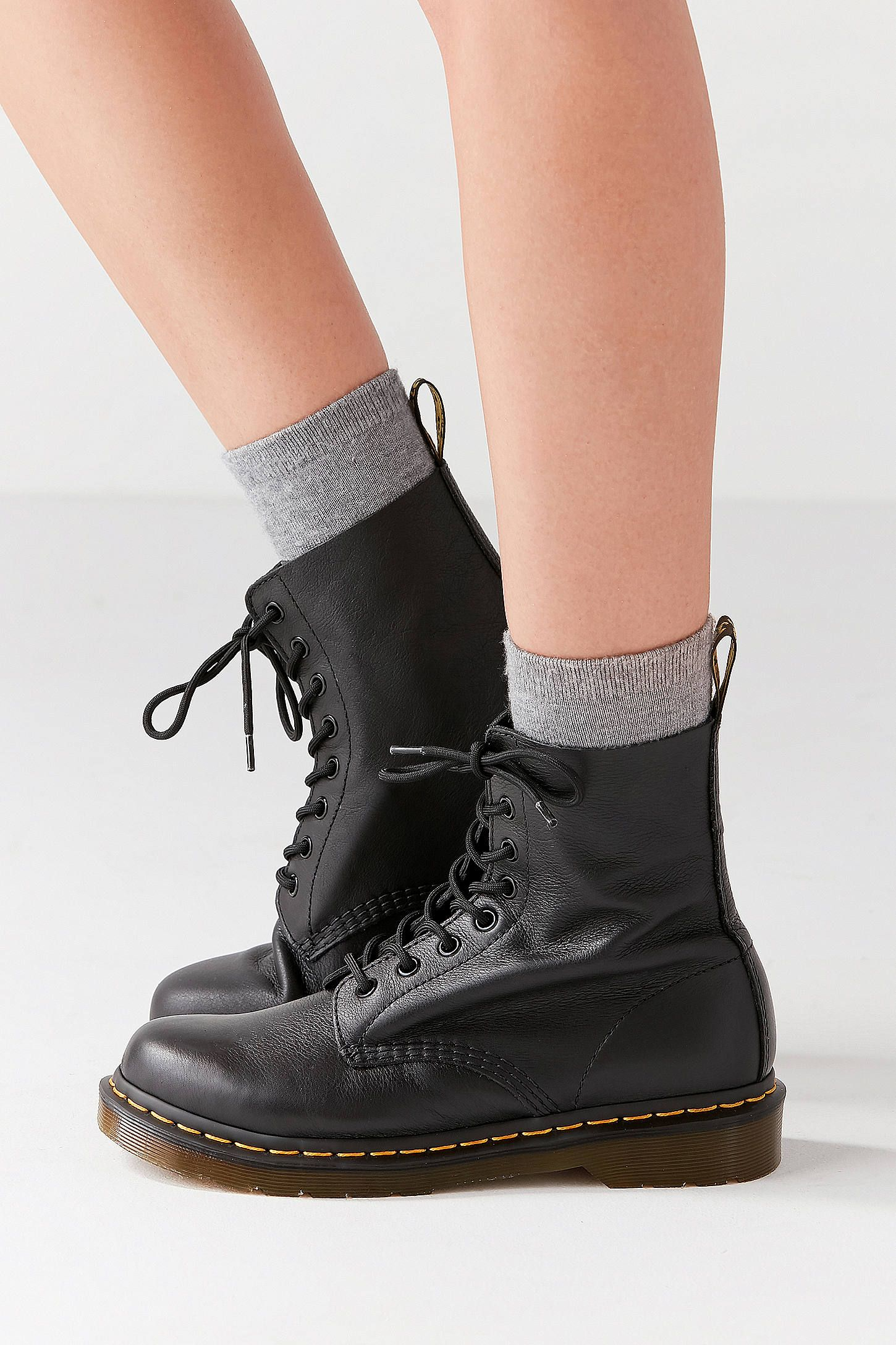 2037945b2b15 Dr. Martens Pascal 8-Eye Black Boots in 2019 | SUMMER | Doc martens ...
