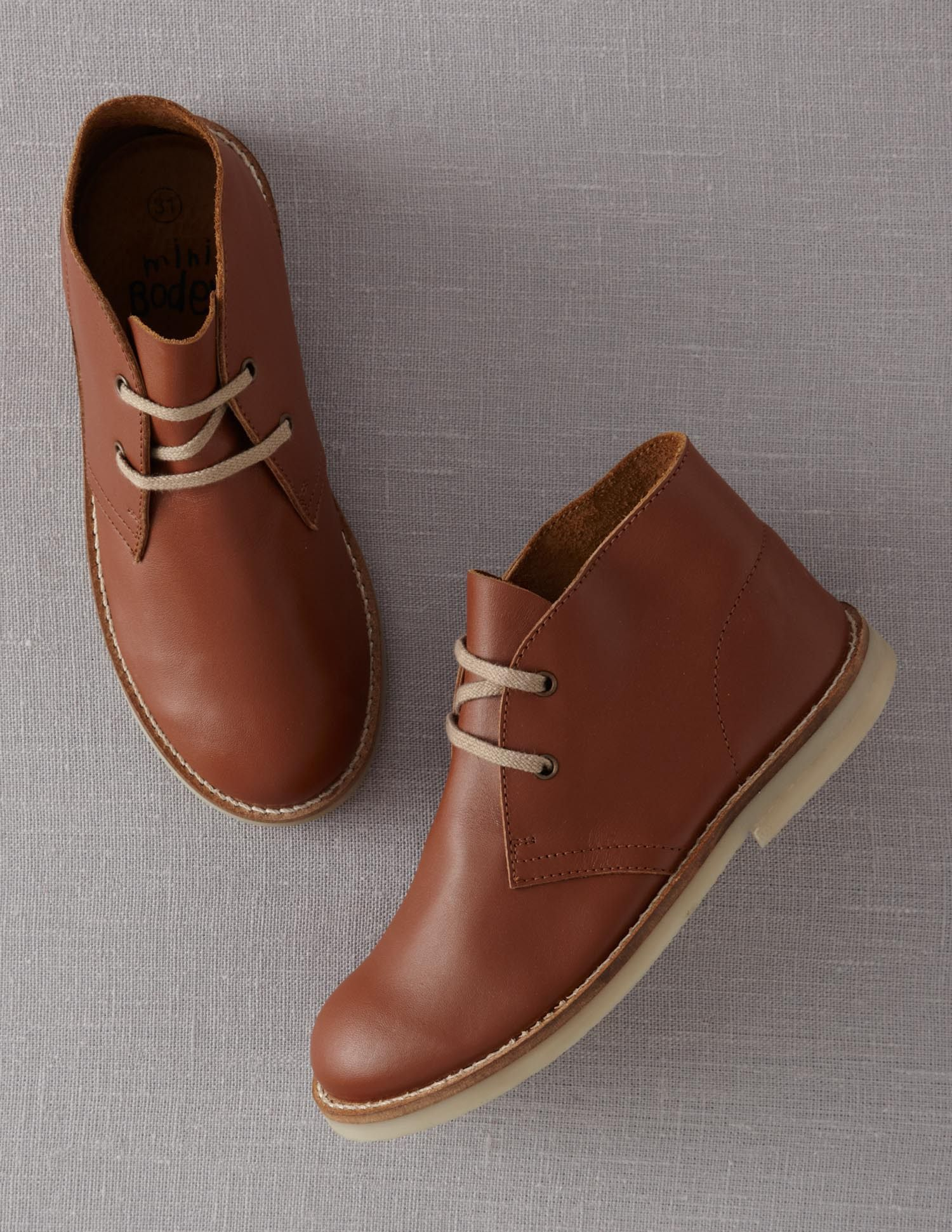 2a4fc3463aeb Leather Desert Boots for toddlers