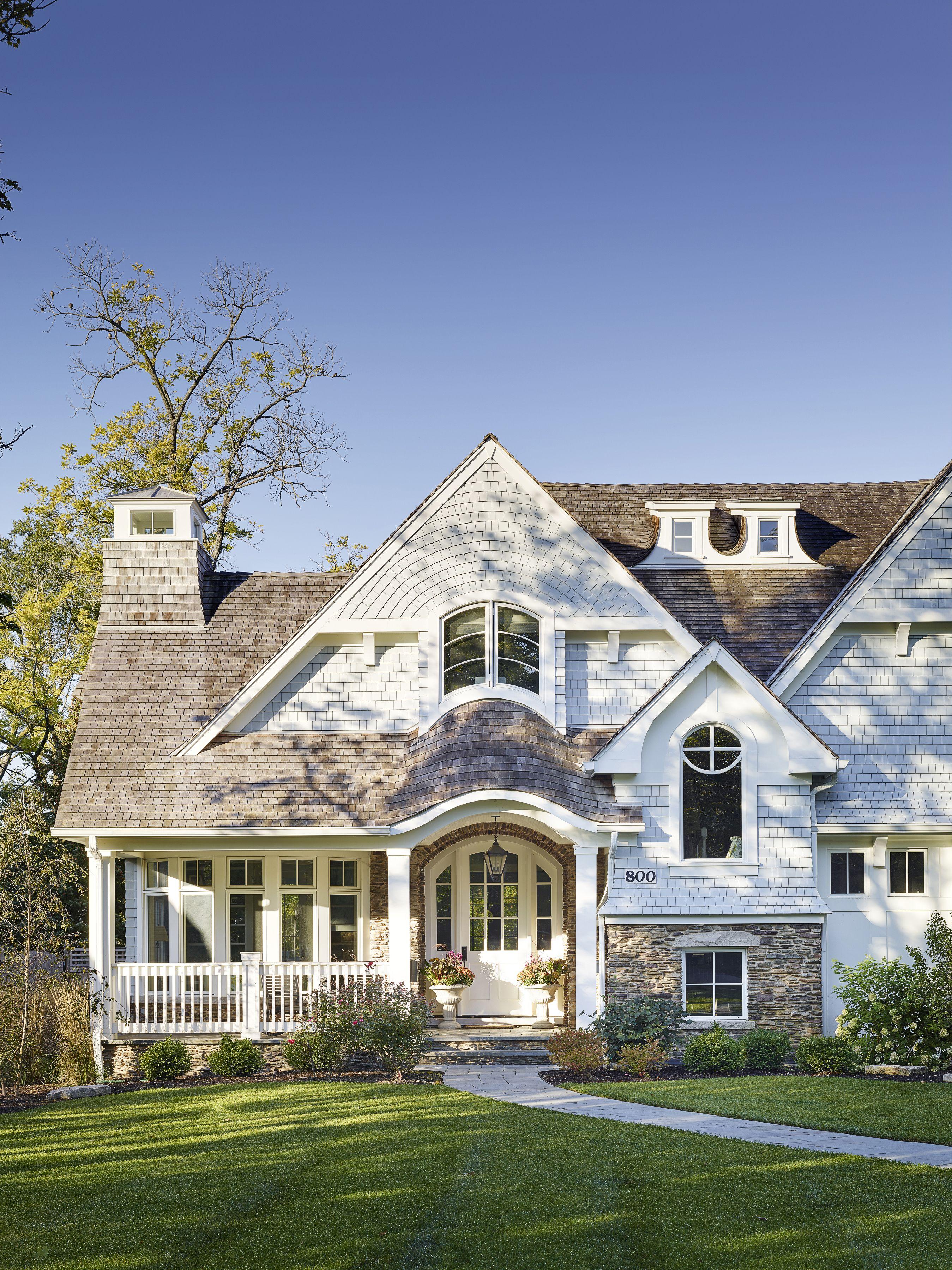 Glencoe custom home by A. Perry Homes Shingle style