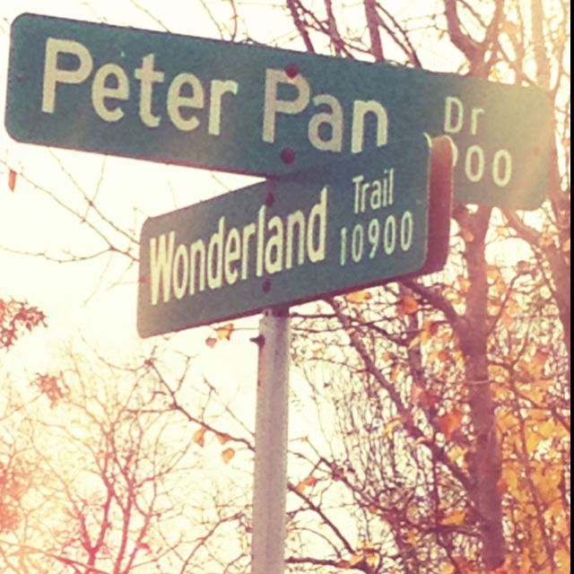 Disney streets...Peter Pan. I would definitely travel to Neverland. No question.