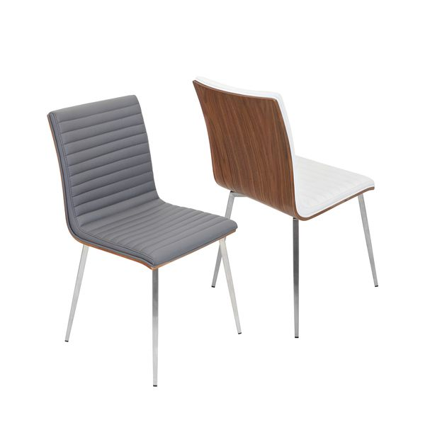 Dining chairs  sc 1 st  Pinterest & LumiSource Mason Walnut Wood and Stainless Steel Chair | Home is ...
