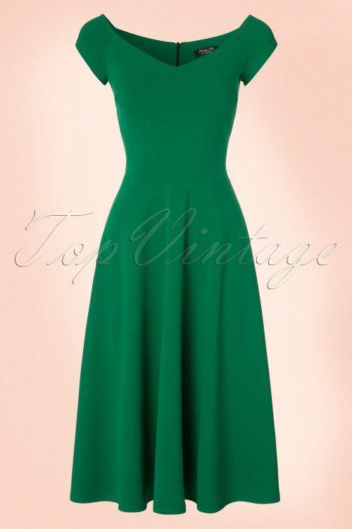 4dcdd7d129ab 50s Emma Swing Dress in Emerald Green   Dressing up   Pinterest ...