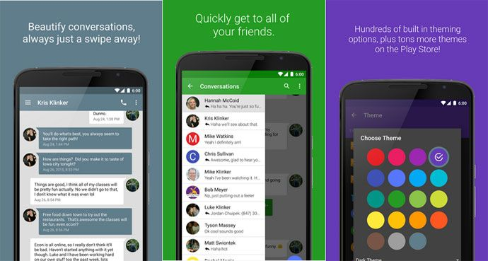 The 10 Best Texting App for Android Lovers 2017. Download