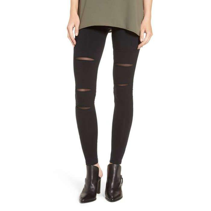 Rank & Style - BP Mesh Inset Leggings #rankandstyle