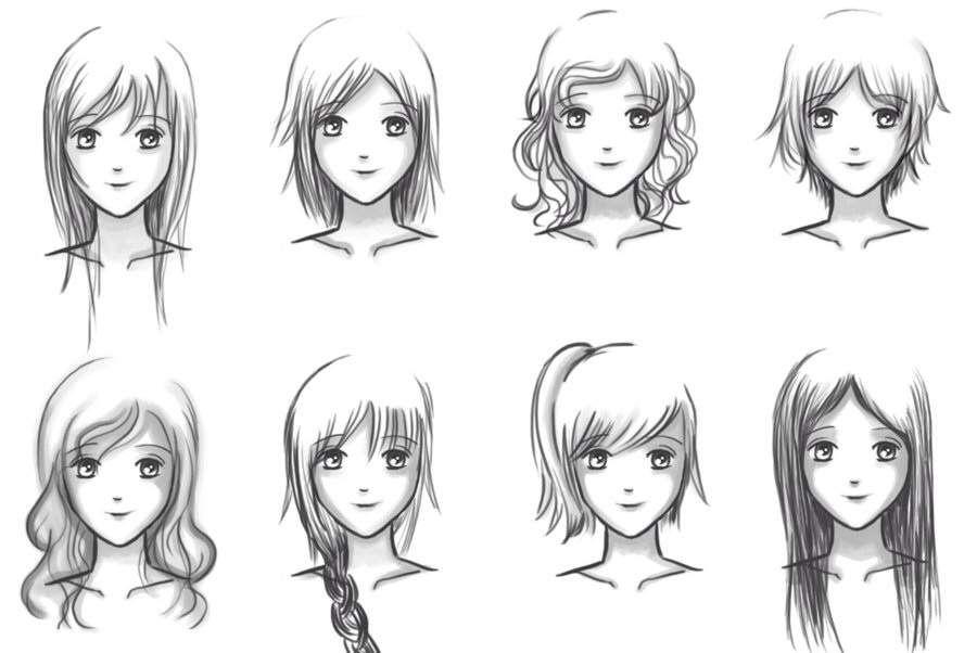 """Résultat De Recherche D'images Pour """"manga Hair Girl"""