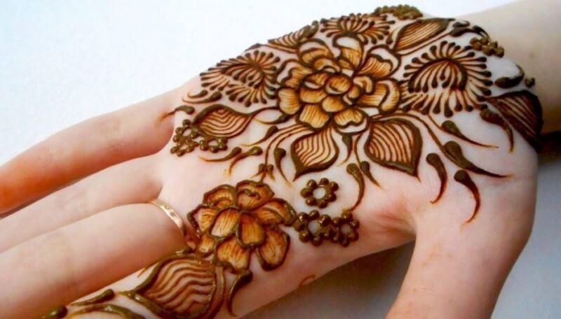 Henna Telapak Tangan Gambar Bunga Desain Henna Henna Mehndi Designs